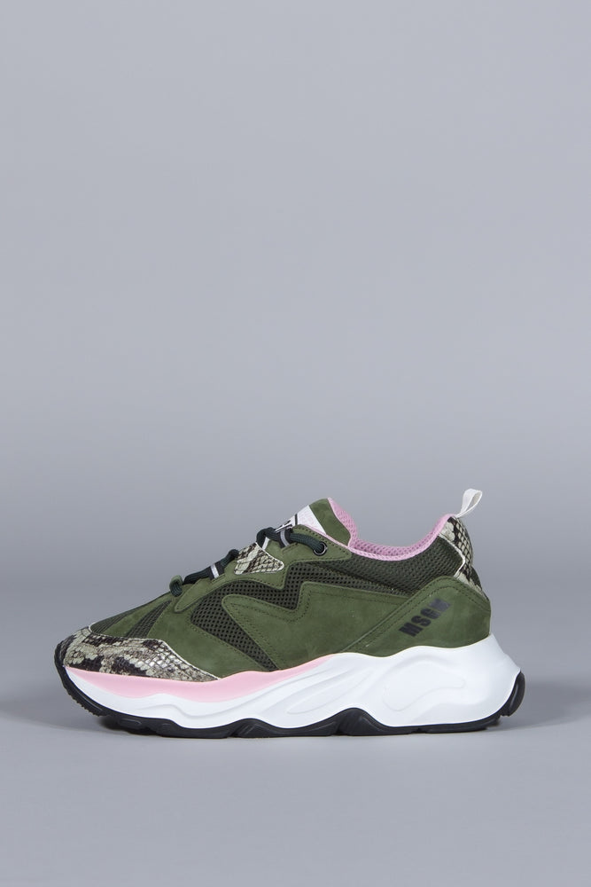 MSGM ATTACK SNEAKERS GREEN