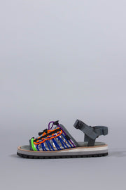KOLOR METALLIC MULTI-STRAP SANDALS MULTICOLOR W