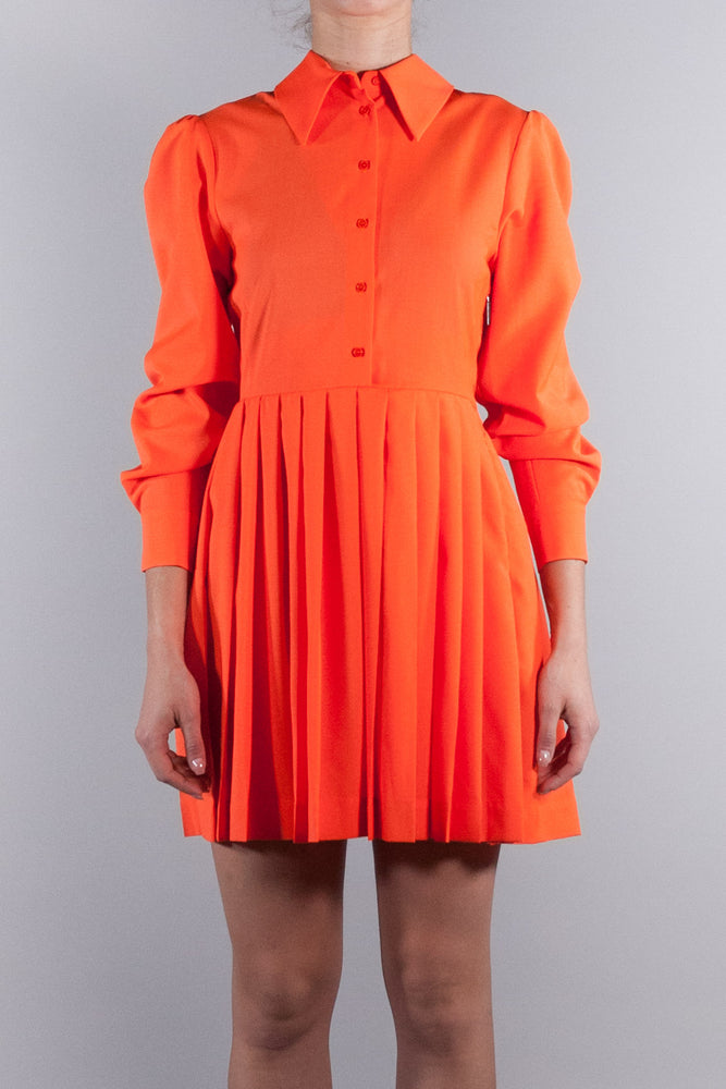 MSGM BIG TOPKNOT DRESS ORANGE