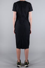 COMME DES GARCONS SHORT SLEEVE POCKET DETAIL DRESS BLACK