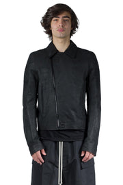 RICK OWENS LEATHER JACKET PERFORMA BLACK