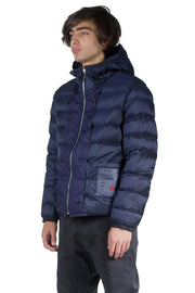 TEN C DOWN LINER HOODED WITH POCKETS DARK NAVY