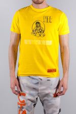 HERON PRESTON T-SHIRT REG HOLY SPIRIT YELLOW BLACK