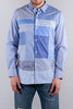 JUNYA WATANABE LONG SLEEVE BLUE PATCHWORK SHIRT
