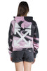 OFF WHITE LIQUID MELT REG HOODIE NUDE WHITE