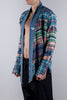 Greg Lauren Kimono Studio Mix Plaid Multicolor