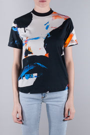 OFF WHITE BRUSHSTROKES CASUAL TEE BLACK GREY