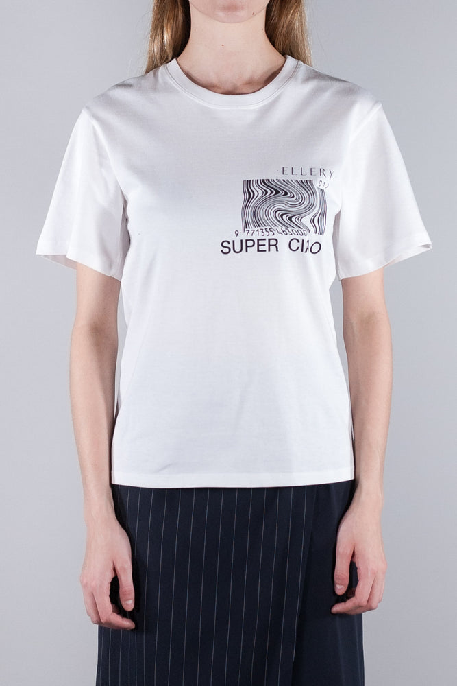 ELLERY SUPER CIAO T-SHIRT OFF WHITE