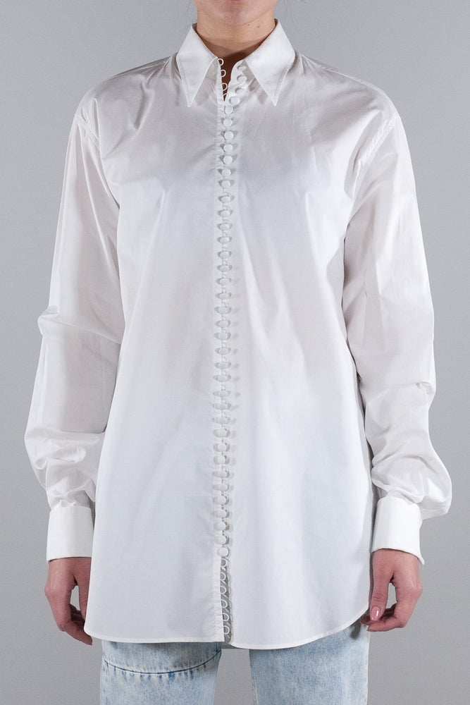 MM6 BUTTON LS SHIRT WHITE