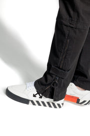 OFF WHITE  OW LOGO SLIM CARGO BLACK WHITE