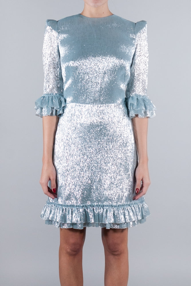 THE VAMPIRE'S WIFE THE MINI FESTIVAL DRESS ICE BLUE