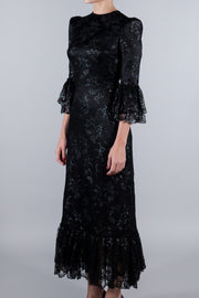 THE VAMPIRE'S WIFE THE LIQUORICE LACE WILD ROSE DRESS