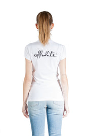 OFF WHITE WINONA FITTED TEE WHITE BLACK
