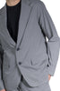 KOLOR SINGLE-BREASTED FITTED BLAZER LIGHT GREY