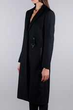 ALYX BUCKLE DETAIL COAT BLACK