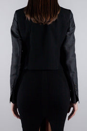 RICK OWENS BLENDED WOOL JACKET BLACK