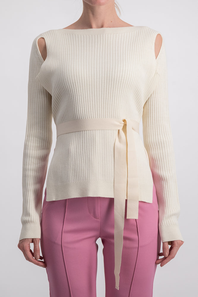 MM6 CUT OUT KNIT PULLOVER