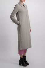 MM6 LONG JERSEY BEIGE COAT