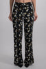 OFF WHITE CREPE PAJAMA PANT BLACK NO COLOR