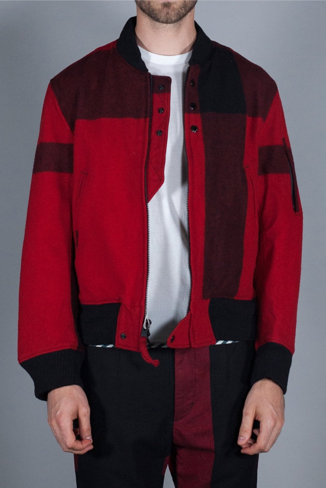 ENGINEERED GARMENTS AVIATOR JACKET  RED