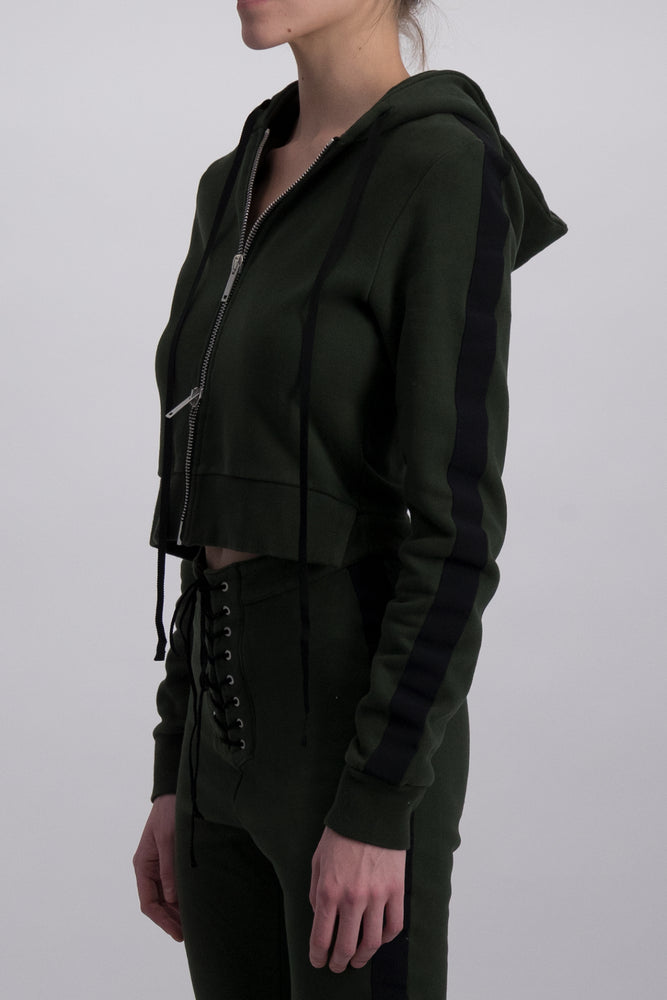 UNRAVEL PROJECT TERRY B JUMPSUIT DARK GREEN