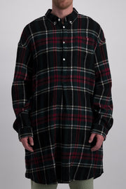 UNDERCOVER GREEN CHECK LONG SHIRT