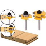 2 Pcs - Tongue & Groove Router Bit For Woodworking