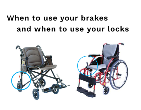 What's the difference between wheelchair brakes and locks?