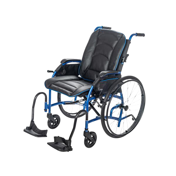 "24"" Rear Wheel - Self Propel / Black & Blue Leather Bucket Seat +$469.99"