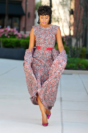 Ankara Dress with Fishtails