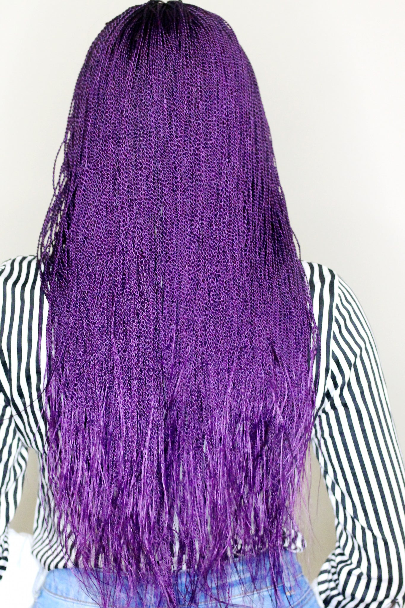 Purple Braided Wig