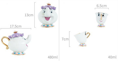 Mrs Potts and Chip Dimensions