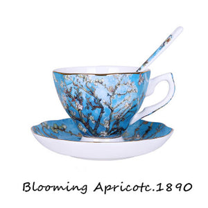 Van Gogh Blooming Apricots -Tea for 1 - The Little Tea Boutique