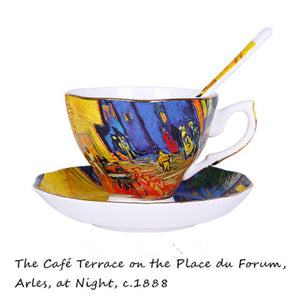 Van Gogh Arles At Night Cup -Tea for 1 - The Little Tea Boutique
