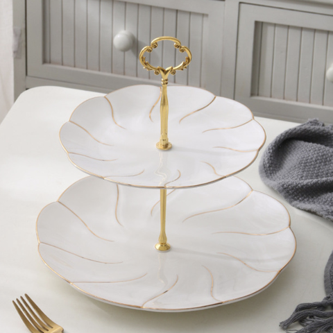 Luxury Gold Cake Stand - The Little Tea Boutique