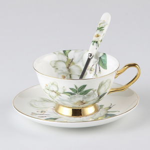 Floral Green Tea Cup for 1 - The Little Tea Boutique