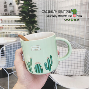 Cactus Ceramic Tea Cup - The Little Tea Boutique