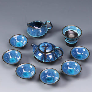 10 pieces Japanese Blue Teapot Set - The Little Tea Boutique