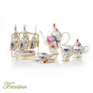 Pastoral Bird Tea Pot Set - The Little Tea Boutique
