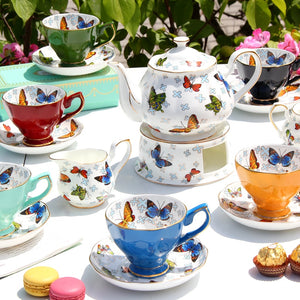 Colorful Butterfly Tea Pot Set - The Little Tea Boutique