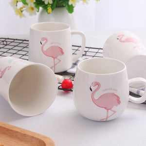 Heart Pink Flamingo Tea Mug - The Little Tea Boutique