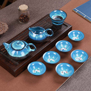 Blue Sea Tea Pot Set - The Little Tea Boutique