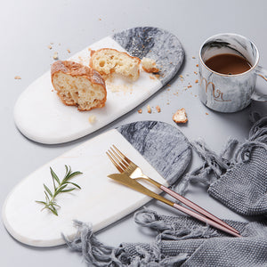 Black and White Marble Plates - The Little Tea Boutique