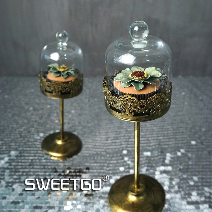 Golden Iron Mini Round Stand - The Little Tea Boutique