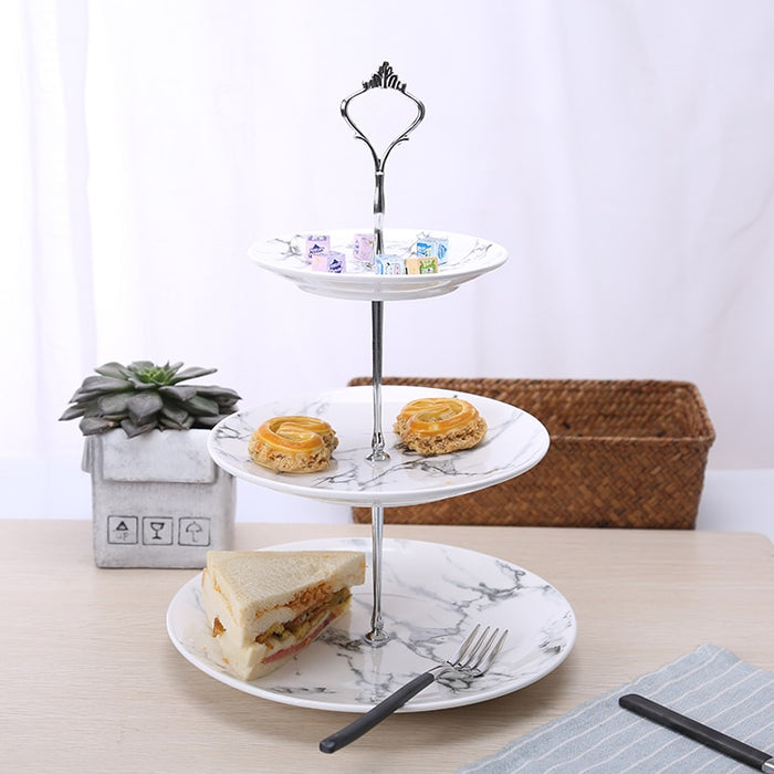 Three-tier Marble Cake Plate - The Little Tea Boutique