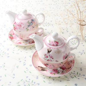 Pinkish Floral Tea Pot - The Little Tea Boutique