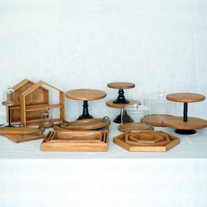 Wooden Vintage Cake Stands - The Little Tea Boutique