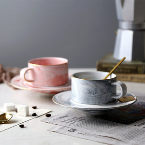 Exquisite marble texture Tea Cups - The Little Tea Boutique