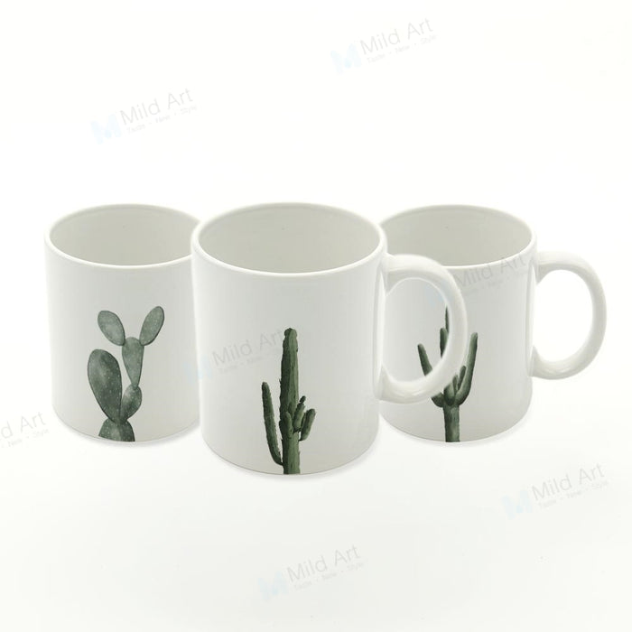 Minimalist Cactus Tea Mugs - The Little Tea Boutique