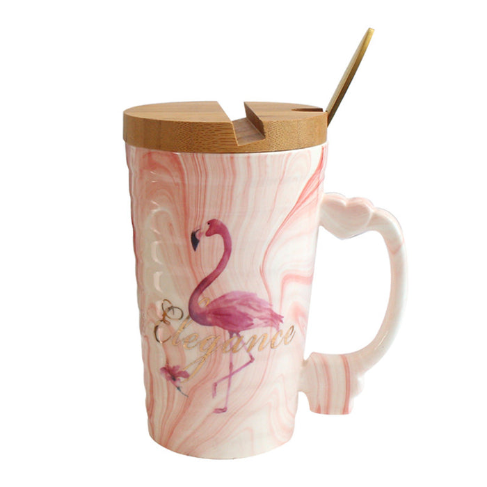 Elegance Flamingo Tea Mug - The Little Tea Boutique